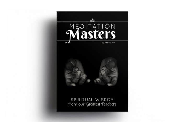 The cover for Patrick Zeis' book 'Meditation Masters: Spiritual Wisdom From Our Greatest Teachers' is shown. This picture is featured in Balanced Achievement's article looking at the launch of their new Etsy shop.